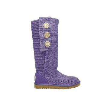 DCCKIN2 Uggs Boots Cyber Monday Knit Classic Cardy 5819 Purple For Women 81 14