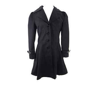 Gothic Victorian Steampunk Corset Back Ruffled Riding Coat