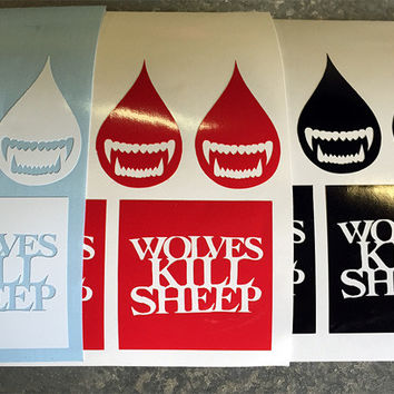 Wolves Kill Sheep : Assorted Stickers 3 Pack