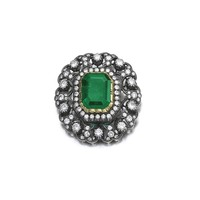 Emerald and diamond brooch/pendant | lot | Sotheby's
