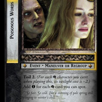 Lord of the Rings TCG Card Game Black Rider - Poisonous Words - 12R75