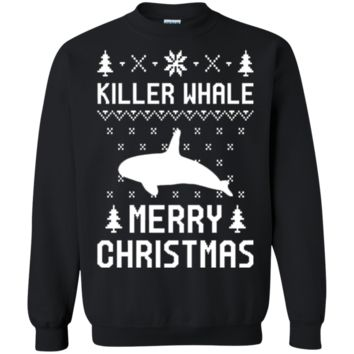Killer Whale christmas Tshirt_ Ugly Christmas Sweater Tshirt