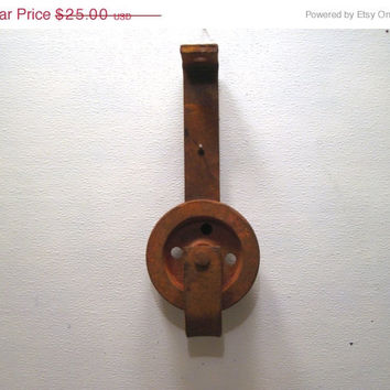 Industrial, Rustic, Heavy, Duty, Wheel, Pulley, Mount, Barn, Part, Antique, Hunting, Camping, Cabin, Garage, Accessory, Lighting, Supply, 4H