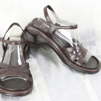 Nice Reaction for J Jill Beach Comber Sandals Size 8 Brown Leather Ankle Strap Womens
