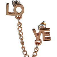 Double Love Chain Earring - Earrings - Jewellery - Accessories - Topshop