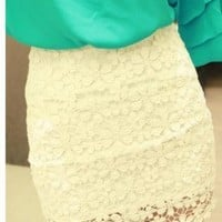 Lace Crochet Hip Package Body Skirt