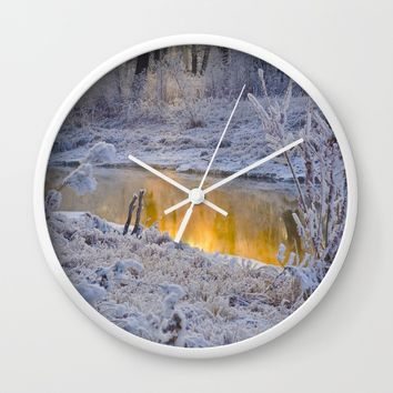 It's Gold Outside Wall Clock by Mixed Imagery