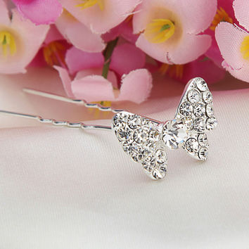 Bridal Hair Accessories U-clip Butterfly Hairpin Headdress Headpieces