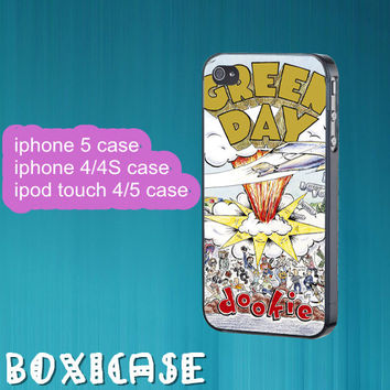 Green Day Dookie--iphone 4 case,iphone 5 case,ipod touch 4 case,ipod touch 5 case,in plastic,cute iphone 5 case,cool iphone 5 case.