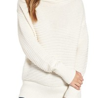 Leith Ottoman Knit Mock Neck Pullover   Nordstrom