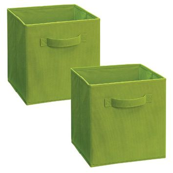 ClosetMaid 11532 Cubeicals Fabric Drawer, Spring Green, 2-Pack