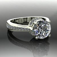 Forever Brilliant Moissanite and Diamond Engagement Ring 1.92 CTW