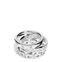 STERLING LINK STACKING RING SET