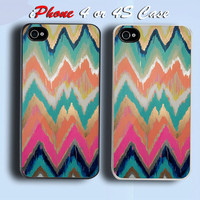 Cute Painting Custom iPhone 4 or 4S Case Cover