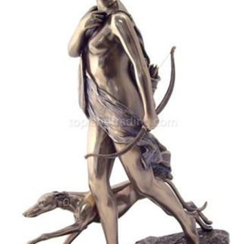 Diana / Artemis the Huntress Sculptures, Bronze Finish