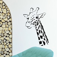 Wall Decal Vinyl Sticker Wild Animal Giraffe Decor Sb462