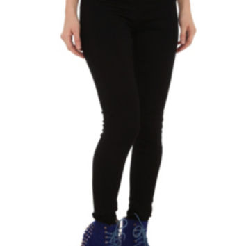 Cello Black Sailor High-Waisted Skinny Jeans