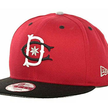 DC Shoes RD Throwback 2 Snapback New Era 9Fifty Red Black Hat Cap