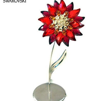 Swarovski Crystal Figurine Flower DOMONI Light Siam #848452