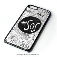 5Sos Unpredictable Lyric Cover Design for iPhone and iPod Touch Case