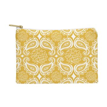 Heather Dutton Plush Paisley Goldenrod Pouch