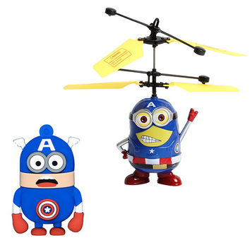Despicable Me Minion Remote Control Helicopter-Captain America