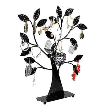 FUNIQUE Brand Jewelry Boxes And Packaging Black Jewelry Holder Tree Shape Earring Display Stand For Bracelet & Ring Display