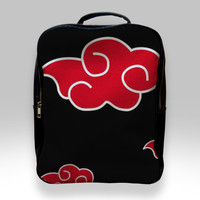Backpack for Student - Akatsuki Red Cloud Pattern Bags