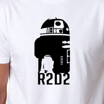 R2D2 Inspired Star Wars Mens/Womens or kids Pre Shrunk Cotton T-Shirt. Multiple Colors Available. Artwork By Kurtis Charters