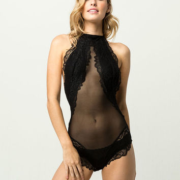 Lace High Neck Bodysuit