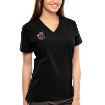South Carolina Gamecocks New Balance Women's V-Neck Performance Scrub Top – Black
