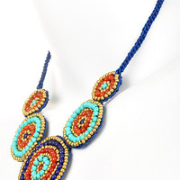 Cortez Circular Beaded Necklace