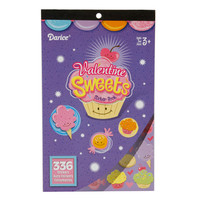 ConsumerCrafts Product Valentine Sweets Sticker Book with 336 Valentine Stickers
