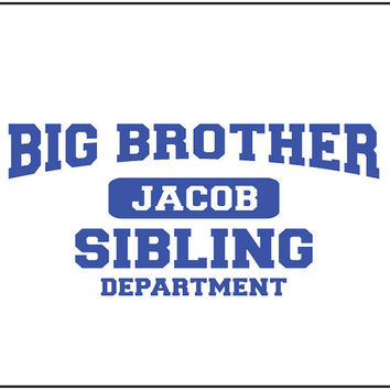Big brother sibling t-shirt. Personalize t-shirt. kids t-shirt. Children's t-shirt. T-shirt for boy