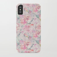floral blush iPhone Case by sylviacookphotography