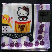 Anna Sui Hello Kitty My-ss Purple Handkerchief