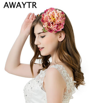 New Boho Flower Garlands for Hair Woman Head Wreath Flower Crown Floral Flower Garland Hair Wreaths Wedding Travel Photography