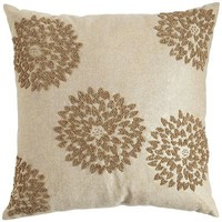Gilded Mums Chambray Pillow