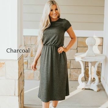 Simply Modest French Terry Dress   Regular and Plus Size Dresses