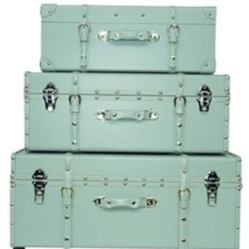 The Sorority College Trunk - Harbor Gray Dorm Footlocker Girls Organization Decor Carry Stuff