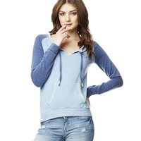 Raglan Notch Neck Sweatshirt