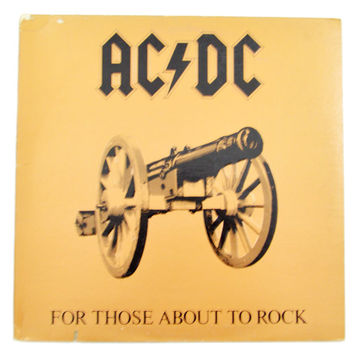 Vintage 80s AC/DC For Those About To Rock We Salute You Gatefold Album Record Vinyl LP
