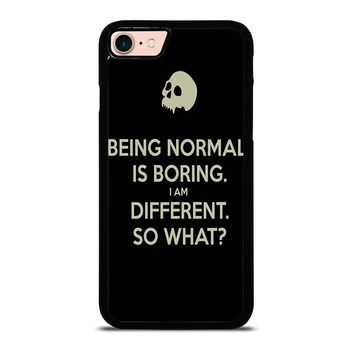 NORMAL IS BORING QUOTES iPhone 8 Case Cover