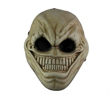 Horror Payday 2 Alien Resin Mask Full Face Halloween Cartoon Game Scary Smile Masks Masquerade Party Cospaly Costume Props Adult