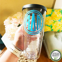 Alpha Delta Pi AΔΠ Tumbler 24oz Double Wall with Sip Lid