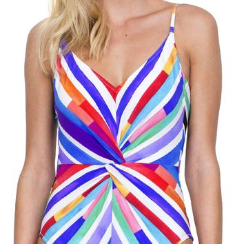 Gottex Carnival V Neck One Piece Swimsuit 19CA-036-080
