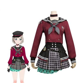 Cosplay Costume Anime Game BanG Dream! Afterglow Lost One Aoba Moca Dress Anime Uniform Custom