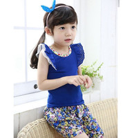 Lil Girl Royal Blue Clothing Set