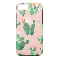 Feminine Watercolor Flowering Cactus iPhone 7 Case