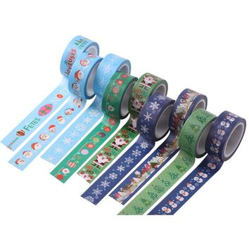 10M/PC 12Pcs/Lot Sale Beautiful Things Adhesive Tape Cute Christmas stickers Washi Tape Set The Best gifts for Kids DIY Crafts